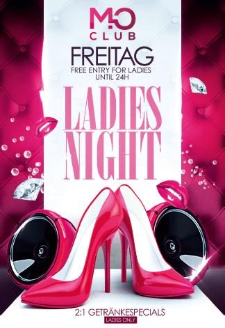Freitags Ladies Night im Mo Club Augsburg. Ladies first!