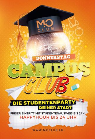 Donnerstags Campus Club im Mo Club Augsburg. Die Studenteparty deiner Stadt!